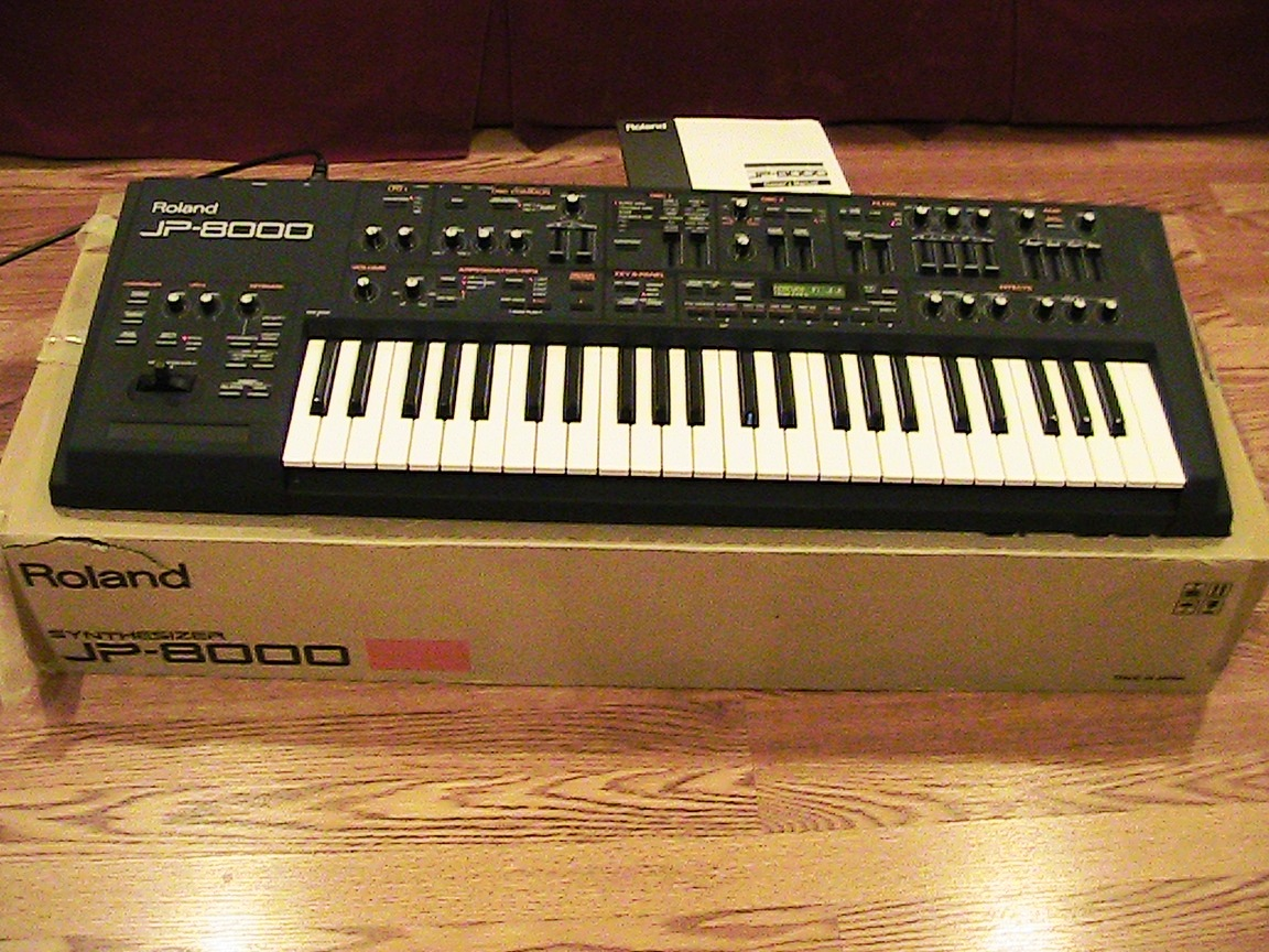 Roland jp-8000 synthesizer & manual jp8000 jp8 jupiter | #246953212.